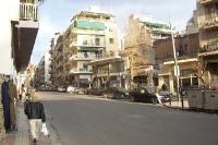 ruhige Nebenstraße in der griechischen Hauptstadt Athen