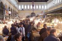 Fische und Meeresfrüchte, Fischmarkt in Athen, Griechenland