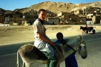 Mit dem Esel unterwegs am westlichen Nilufer