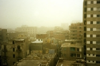 Sandsturm in einem Stadtviertel von Kairo