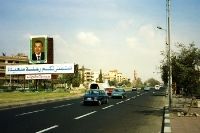 Prachtstraße in der ägyptischen Hauptstadt Kairo