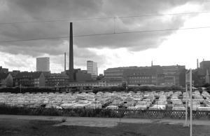 Blick auf das Bayerwerk Leverkusen (1965)