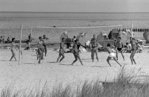 Ostseestrand in Warnemünde (Anfang 70er)