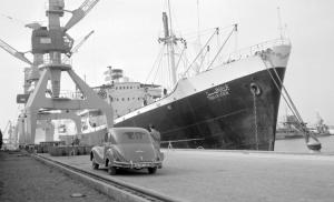 Überseehafen in Rostock (50er Jahre)