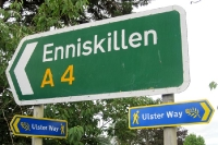 Der Ulster Way bei Enniskillen in der Republik Irland