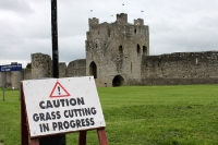 Caution! Grass cutting in progress!