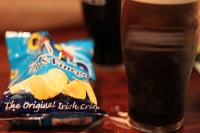 Irish Stout and original Irish crisps
