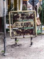alter Wegweiser nach Kladovo