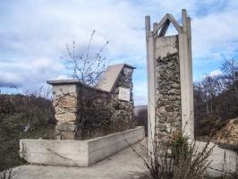 Denkmal auf dem Palazlija (1394 Meter)