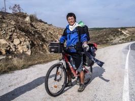 Radfahrer auf dem Iron Curtain Trail (Türkei)