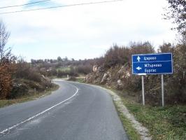 Straße nach Carevo (Bulgarien)