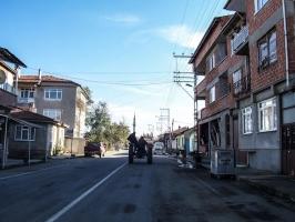 Straße nach Edirne, Türkei