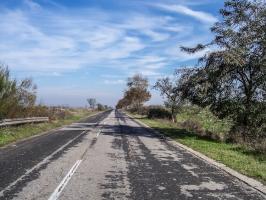 Straße nach Griechenland
