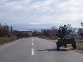 Straße von Delcevo nach Berovo