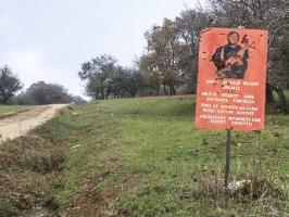 Warnschild, Grenzregion Türkei / Bulgarien