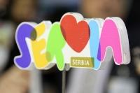 Messestand der Republik Serbien auf der ITB 2012 Berlin