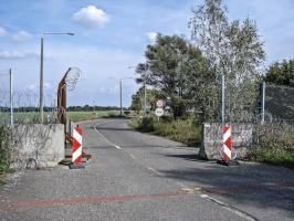 Grenzübergang Kroatien / Ungarn bei  Berzence / Góla
