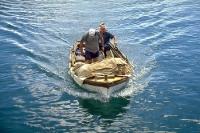 kroatische Fischer vor der Adria-Insel Pag