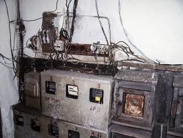 Stromanschlusskasten in einem Wohnhaus