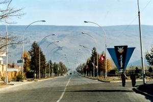 Allee in Ulaanbaatar