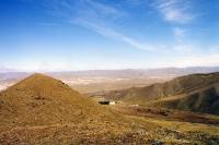 Blick auf Ulaanbaatar / Ulan Bator von den Bergen aus