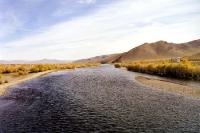 Der Fluss Tuul bei Ulaanbaatar / Ulan Bator
