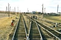 Schienen in der mongolischen Provinz