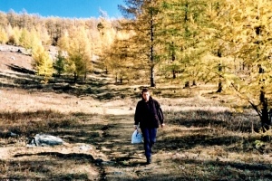 Wandern in mongolischen Bergen
