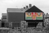 Eire: irisches Wandgemälde in Belfast, Nordirland