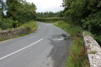 Grüne Grenze zwischen Nordirland und der Republik Irland am Fane River