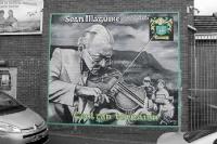 Seán Maguire 1927-2005, Mural in Belfast, Nordirland