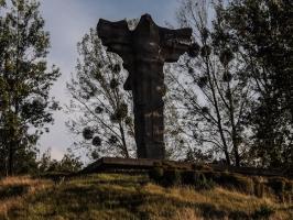 Denkmal im Cedynski Park Krajobrazowy