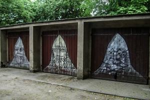 Graffiti an einer Garage