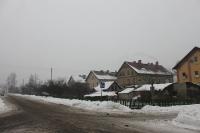 verschneite Straßen in Wegliniec