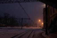 Abendstimmung am Bahnhof von Wegliniec