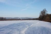 Klirrende Kälte und gefrorener Schnee ...