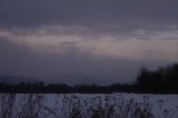 winterliche Landschaft im Abendlicht