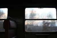 Mit dem Zug auf dem Weg nach Jelenia Gora