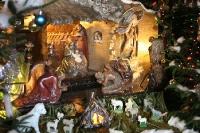 Weihnachtskrippe in einer polnischen Kirche