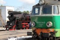 zwei polnische Lokomotiven in Poznan - zwei Generationen