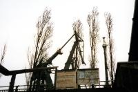 Blick auf die Kräne der Werft in Gdansk / Danzig