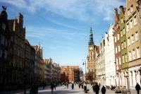 rekonstruierte Altstadt von Gdansk / Danzig, im Frühjahr 2000