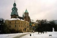 Die Altstadt von Krakau / Krakow im Winter 2000