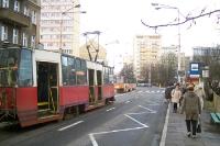 Tram-Haltestelle in Stettin