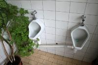 Toilette auf einem polnischen Busbhanhof