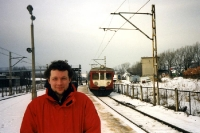 mit der Bahn unterwegs im winterlichen Polen
