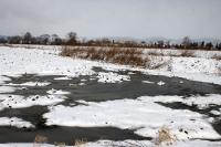 winterliche Landschaft zum Osterfest in Niederschlesien