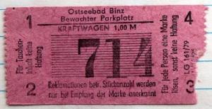 Bewachter Parkplatz in Binz