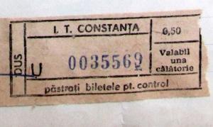 Fahrkarte aus Constanta