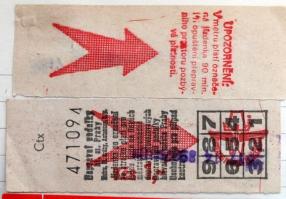 Fahrkarte aus Prag
